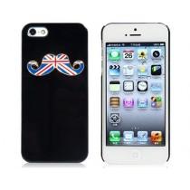 Coque Moustache Angleterre Noire - iPhone 5 / 5S