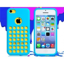 Coque Perforée en silicone Bleue - iPhone 5C