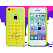 Coque Perforée en silicone Verte - iPhone 5C