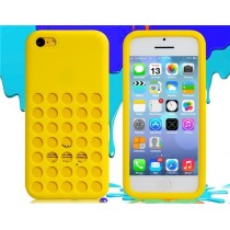 Coque Perforée en silicone Jaune - iPhone 5C