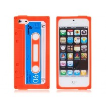 Coque Casette en silicone Orange - iPhone 5C/5S