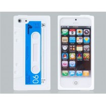 Coque Casette en silicone Blanche - iPhone 5/5S