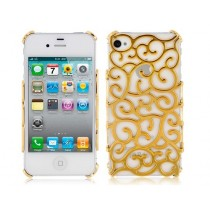 Coque en plastique rigide style Baroque couleur Or - iPhone 5 / 5S