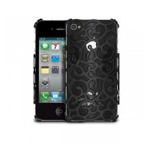 Coque en plastique rigide style Baroque couleur Noire - iPhone 5 / 5S