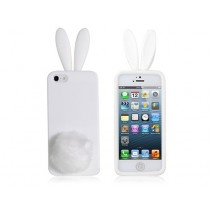 Coque Lapin Blanc en silicone - iPhone 5 / 5S