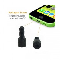 lot de 2  vis du bas noir pour iPhone 5C