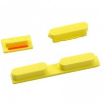 3 boutons: Power, mute, volume (jaune) - iPhone 5C