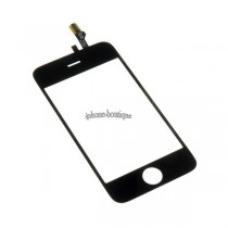 ★ iPhone 3GS ★ Vitre tactile face avant noire + double face
