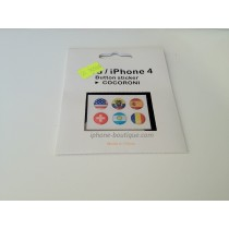 6 Stickers autocollants bouton home iphone 4 4g 4s 3g 3gs