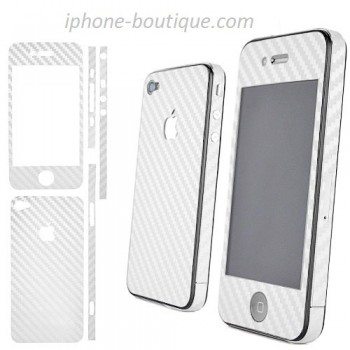 autocollant carbone blanc sticker carbone blanc iphone 4 4s