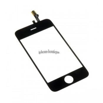 Vitre face avant tactile noire iphone 3gs