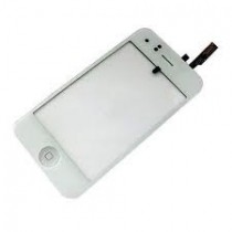 Vitre face avant tactile blanche iphone 3g plus bouton home blanc
