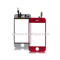 ★ iPhone 3GS ★ Vitre avant tactile ROUGE