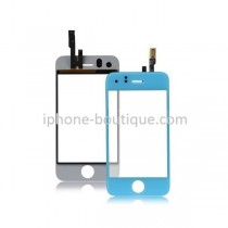 ★ iPhone 3GS ★ Vitre avant tactile BLEUE