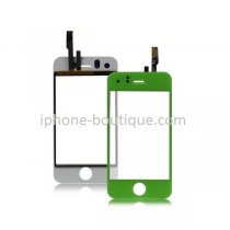 Vitre face avant tactile verte pour iphone 3gs