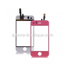 Vitre face avant tactile rose iphone 3gs