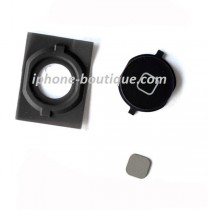 Complet bouton home noir support pastile iphone 4s